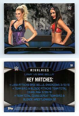 Lana / Brie Bella #19 WWE Then Now Forever 2016 Topps Rivalries Card