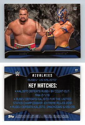Rusev / Kalisto #17 WWE Then Now Forever 2016 Topps Rivalries Card