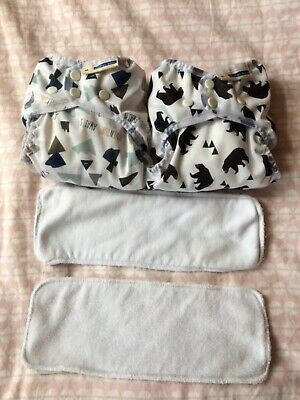 2 x Wizard Uno One Size Stoffwindeln cloth nappies Mother-Ease