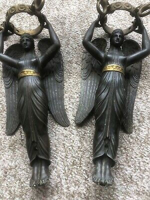 Antique French Empire Bronze And Gilt Angel Lamp Base C1830