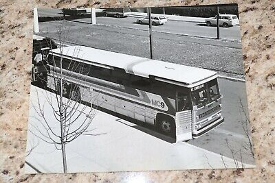 8 black and white 8x10 vintage bus photographs