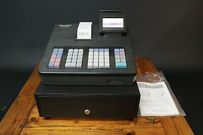 Sharp XE-A207B Cash Register / Till POS LCD Display Black UK Mains + Manual
