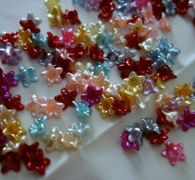 50 Acrylic Flower Bead Caps 13mmx13mm #A3872 Jewellery Making Beading Craft