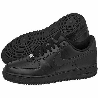 86b3a74dcd867 Nike Air Force 1 Boys Youth All Black Lace Trainers Sneakers UK 5 - 314192-