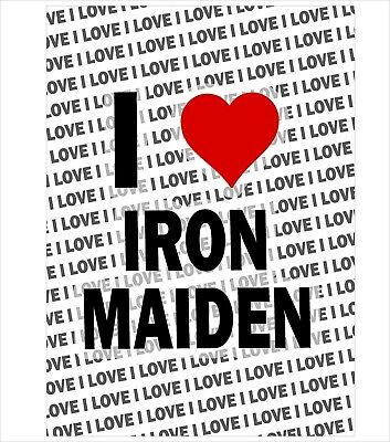 I Love Iron Maiden - A3 Poster Gift Birthday Christmas Stocking Filler