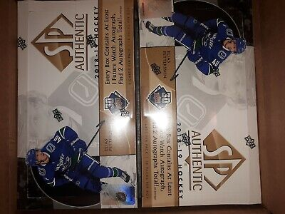 2018-19 Upper Deck Sp Authentic Hockey Factory Sealed Hobby Box - Pettersson ???