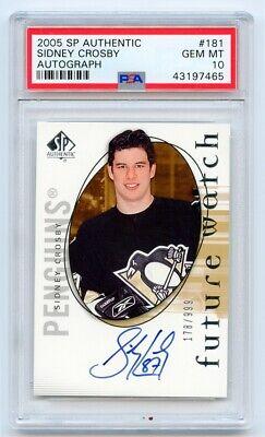 2005-06 Sp Authentic Future Watch Rookie Auto Rc /999 Sidney Crosby - Psa 10 Wow