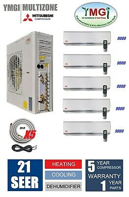 48000 BTU FIVE Zone Ductless Mini Split Air Conditioner and