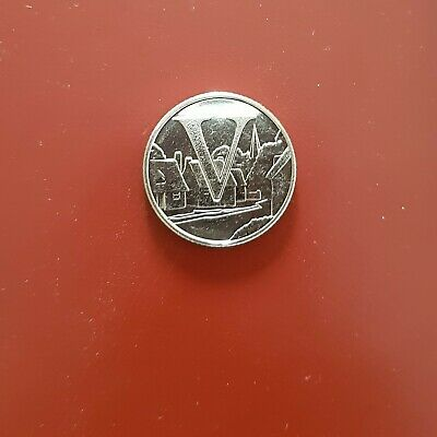 New A-Z Alphabet 10p  Letter V For Villages Coin Ten Pence  Coin Hunt 2018 uncrc