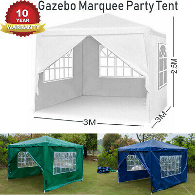 3Mx3M Party Tent Outdoor Garden Gazebo Marquee Event Tent Heavy Duty Waterproof