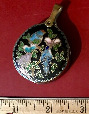 Antique Chinese Cloisonne Bird Pendant - Magnifying Glass