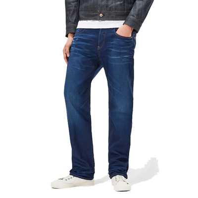 8f13796898e G-STAR GS RAW 3301 Loose Fit Medium Aged Kanwal Denim Men's Jeans ...