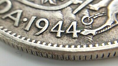 1944 Wide Date Canada Fifty 50 Cent Half Dollar Circulated George VI Coin K062