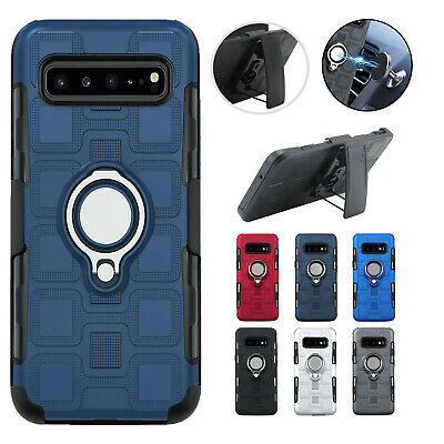 Fr Samsung Galaxy S10 5G S10E S10 Holster Belt Clip Magnet Ring Stand Case Cover