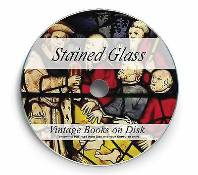 Stained Glass Painted Windows Rare Books on DVD Art Painting Designs History 244