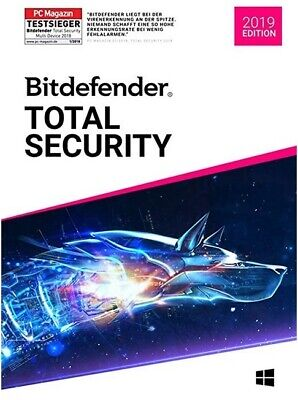 BIT - DEFENDER Total Security 2019 2 Jahre 2 PC