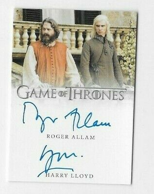 Roger Allam & Harry Llyod 2019 Game of Thrones Inflexions Dual Auto