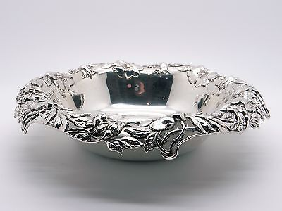 Tiffany & Co C Makers Sterling Silver Pierced Flower Ornate Candy Bowl 16576