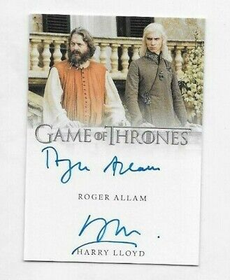 Harry Llyod  & Roger Allam 2019 Game of Thrones Inflexions Dual Auto
