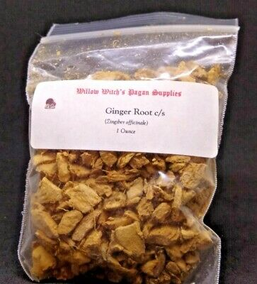Ginger Root c/s Herb 1 Ounce Wicca Hoodoo  Voodoo Witchcraft Santeria Pagan