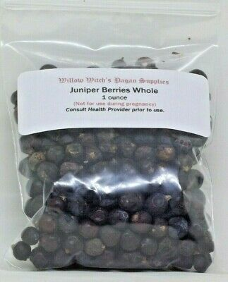 Juniper Berries Whole 1 Ounce Herb witchcraft Wicca Hoodoo Voodoo Protection
