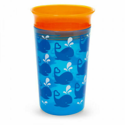 Munchkin Miracle 360 Deco Sippy Cup Whale / Blue 12m+ Brand New Free P&P