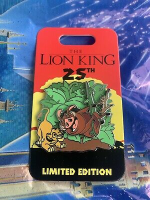 Disney Parks The Lion King 25th Anniversary Timon And Pumbaa Pin LE In Hand