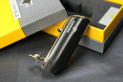 COHIBA Grey Metal 3 TORCH JET FLAME CIGAR Cigarette LIGHTER WITH PUNCH