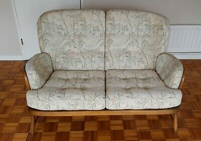 Vintage Retro Ercol Jubilee 2 Seater Sofa  - Golden Dawn