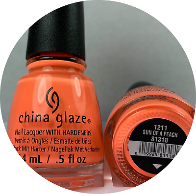 China Glaze Nail Polish * Sun Of A Peach 1211 #81318 * NEW LACQUER Summer Neon