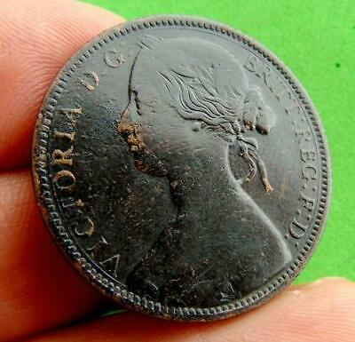 DARK  TONED  NVF  VICTORIA  * 1862 *  PENNY  1d ......LUCIDO_8  COINS
