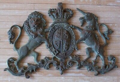 14 inches CAST IRON  ROYAL COAT OF ARMS