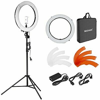 Neewer 18'' 48cm Outer LED Ring Light Kit with Light Stand 2 Color Filter