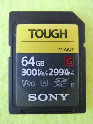 Sony Tough 64Gb Sf-G64T Uhs-Ii  Tarjeta Memoria Read 300Mb/S Write 299Mb/S