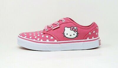 VANS Atwood Kids Hello Kitty Pink White Missy Lace Up Sneakers Youth Girl Shoes
