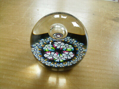 "Caithness William Manson ""Millifiori Reflections"" Paperweight - CG Cane - 3"""