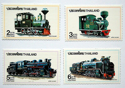 Trains, Thailand 1990 Issue, Railway Thematic Unmounted Mint Stamps.