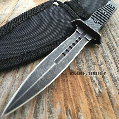 "9"" DOUBLE EDGE FULL TANG TACTICAL HUNTING MILITARY COMBAT KNIFE Dagger Rambo-W"