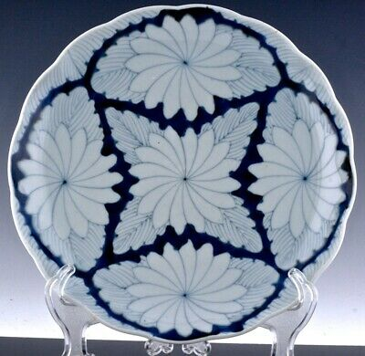 VERY FINE LARGE 19thC JAPANESE MEIJI IMARI OR ARITA BLUE WHITE CHARGER PLATE #9