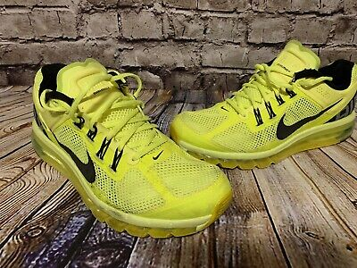 Nike Air Max+ 2013 Volt Black Running Shoes 554886 701 Neon 360 95 OG Vapor