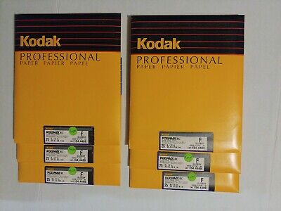 Kodak Polymax RC F Glossy B&W  8x10 25ct sealed pk old stock bulk price avail