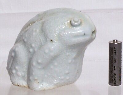 Rare 13th Century Qingbai Water Dropper Southern Song Dynasty Molded as a Toad
