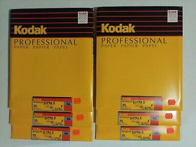 Kodak Ektacolor Supra II F RA 8x10 Paper 25ct old stock Sealed packs