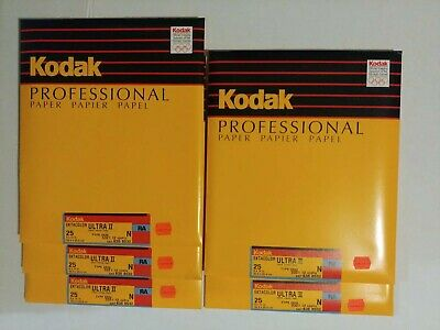 Kodak Ektacolor Ultra II N RA 8x10 25ct Sealed packs old stock Bulk price avail