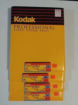 Kodak Ektacolor Ultra II F RA 8x10 25ct old stock Sealed packs Bulk pricing