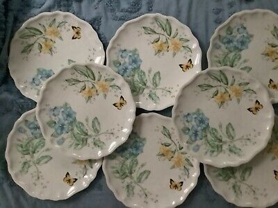 Lenox Butterfly Meadow Melamine Dinner Plate, White, New without box set of 8