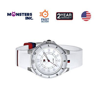 5081f7df6ae96d TOMMY HILFIGER ORIGINAL 1781271 Women's White Silicone Band Watch ...