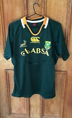 Mens Canterbury South Africa Rugby Shirt Size M
