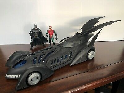 1995 Kenner Batman Forever light-up Batmboile.- missing pieces w/ Batman & Robin