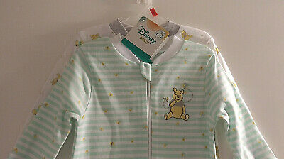 WINNIE The POOH DISNEY Sleeper - Neutal Greens & Yellows - Size 6-12 Mths-NWT